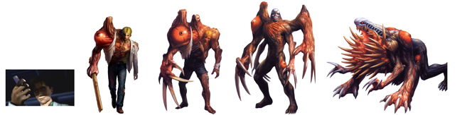 les évolutions génétiques de William Birkin resident evil 2