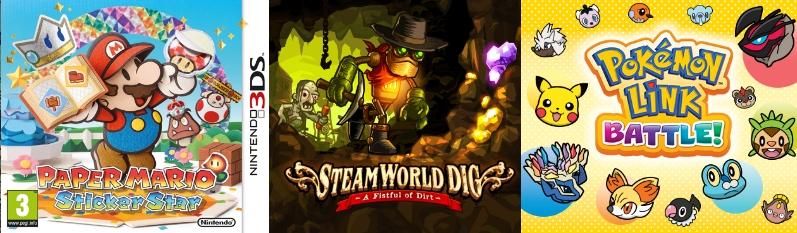 jeux de l'été gamerside djiguito paper mario 3ds steamworld dig pokemon link battle