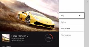 Xbox One Game Hub espace dédié aux jeux