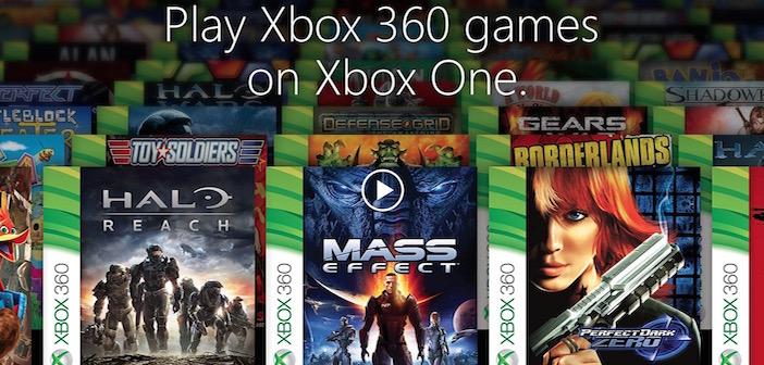 Xbox One rétro-compatibilité