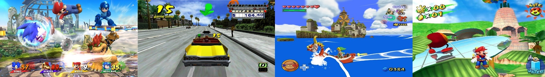SSBWiiU - Crazy Taxi - The Wind Waker - Super Mario Sunshine