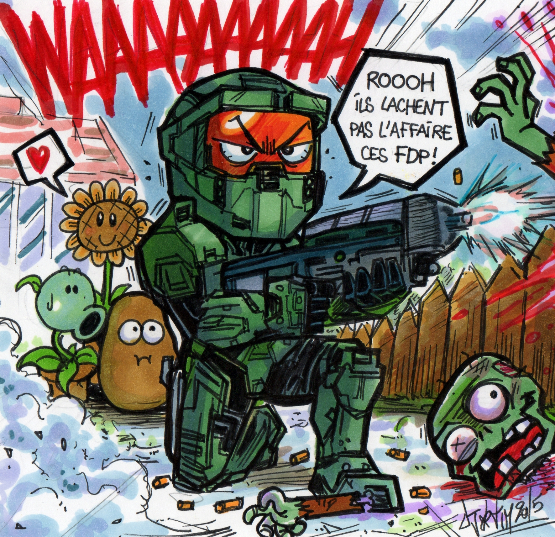 IN GAME GAMERSIDE HALO masterchief collection xbox one microsoft Djiguito plants vs zombies