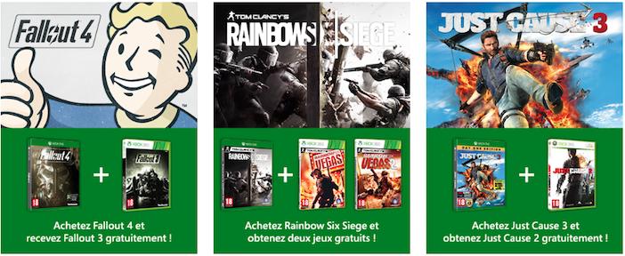 Offre 1 Xbox One rétrocompatibilté